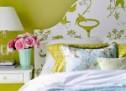 Duvar kağıdı ile Yatak başı süsleme